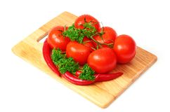 Composition with raw vegetables. On kitchen table Royalty Free Stock Photography