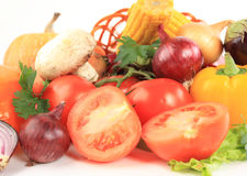 Composition with raw vegetables Stock Image
