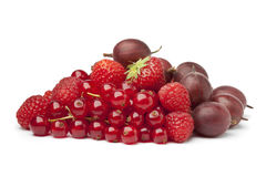 Composition of red berries Royalty Free Stock Image