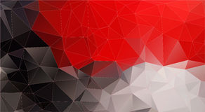 Composition with red and black geometric shapes Royalty Free Stock Photos