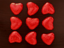 Composition of red hearts Stock Images