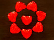 Composition of red hearts Stock Photography