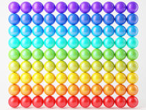 Composition of reflection balls isolated over white, matrix-array Stock Photos