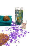 Composition of relaxation stuff stock image