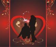 Composition Romance. Emballage pour des sucreries illustration libre de droits