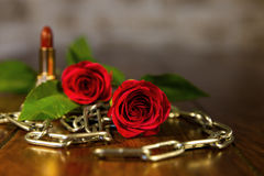 Composition from romantic equipment Royalty Free Stock Image