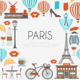 Composition ronde de Paris illustration de vecteur
