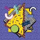 Composition 80s de Memphis illustration de vecteur