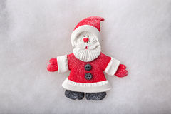 Composition Santa Claus and Christmas tree. handmade Stock Images
