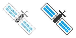 Composition satellite des éléments binaires illustration libre de droits