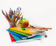 Composition of a school subject to the Teachers' Day Stock Image