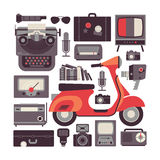 Composition with retro symbols. Royalty Free Stock Photography