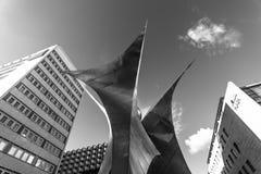 Composition sculpturale dans le style d'Art Nouveau près du centrum Galerie dans la vieille ville Image libre de droits