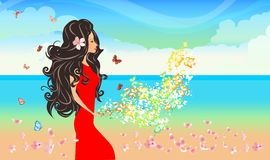 Seaside spring Royalty Free Stock Photography