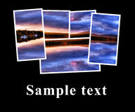Composition series of small photographs. With place for text Stock Photos