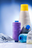 Composition of sewing items Royalty Free Stock Photo
