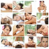 Composition of sexy natural young woman Royalty Free Stock Image