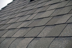 Composition Shingle Roof. A newly installed composition shingle roof close up Stock Images