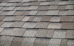 Composition Shingle Roof. A newly installed composition shingle roof close up Royalty Free Stock Image