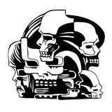 Composition with skulls. Illustration Stock Images