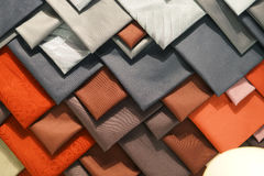 Composition of some ties. White, grey, orange, red and brown ties Royalty Free Stock Photography