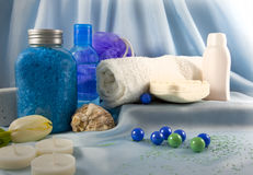 Composition of spa cosmetics Royalty Free Stock Photography