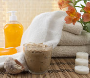 Composition of spa cosmetics Stock Photos