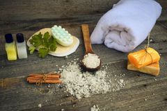 Composition of spa treatmen Royalty Free Stock Images