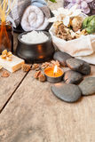 Composition of spa treatment Stock Photography