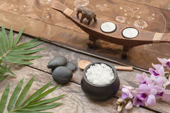 Composition of spa treatment Stock Images