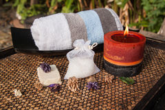 Composition of spa treatment Stock Image