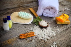 Composition of spa treatment Royalty Free Stock Photo