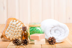 Composition for spa treatments Stock Image