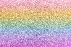 Composition of sparkling rainbow glitter as background. Top view stock photo