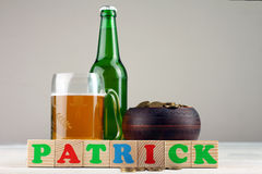 The composition of St. Patrick Stock Image