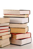 Composition with stack of books isolated on white. Background Royalty Free Stock Photos