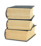 Composition with stack of books isolated on white Royalty Free Stock Photo