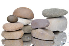 Composition of stacked pebbles Royalty Free Stock Image