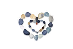Composition of the stones. Heart. stock photos