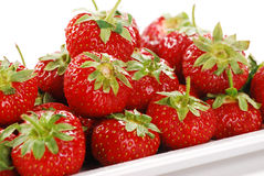 Composition with strawberries. On white background Royalty Free Stock Photography