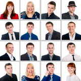 Composition of successful young people Royalty Free Stock Images