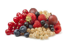 Composition of summer berries Stock Photos