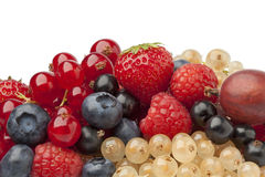 Composition of summer berries Stock Photography
