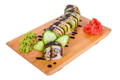 Composition of sushi Dragon Royalty Free Stock Photo