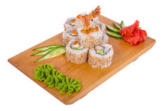 Composition of sushi (shrimp) Stock Image