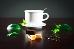 Composition with tea Stock Photos