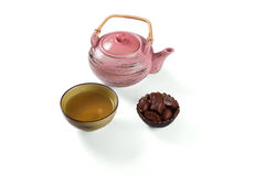 Composition with tea set Royalty Free Stock Photo