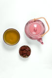 Composition with tea set Royalty Free Stock Image