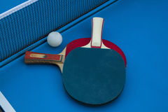 Composition on the tennis table. Royalty Free Stock Images