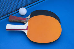 Composition on the tennis table. Royalty Free Stock Photos